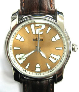 EOS New York Mens Large Gatsby Watch in Choco Brown