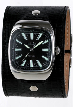 EOS New York Ring Leader Wide Band Watch in Black