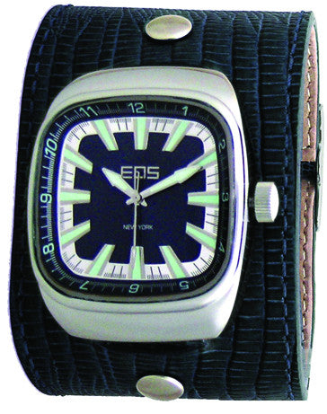 EOS New York Ring Leader Wide Band Watch in Blue