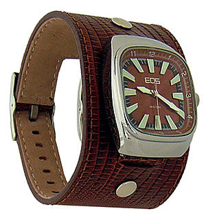 EOS New York Ring Leader Wide Band Watch in Brown