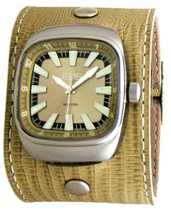 EOS New York Ring Leader Wide Band Watch in Cream