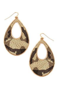 Camo Drop Earrings