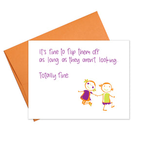 Colette Paperie - Flip Off the Kids Card