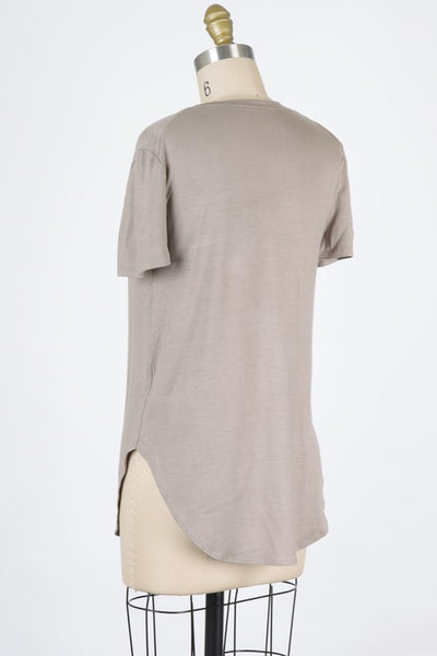 Very Favorite V-Neck Tee in Taupe