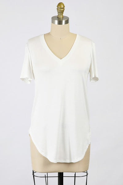 Very Favorite V-Neck Tee in Ivory