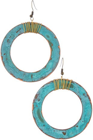 Patina Hoop Earrings