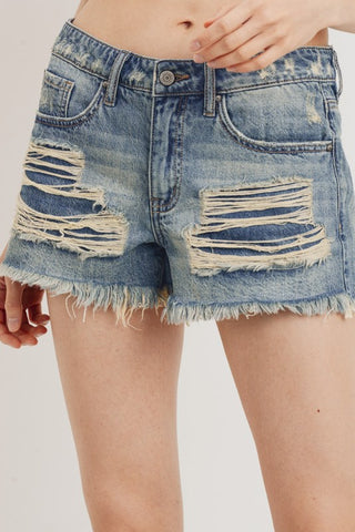 Sheldon Distressed Cut Off Shorts