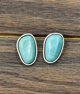 Bianca Turquoise Post Earrings