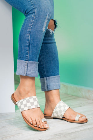 Checkered Sandals