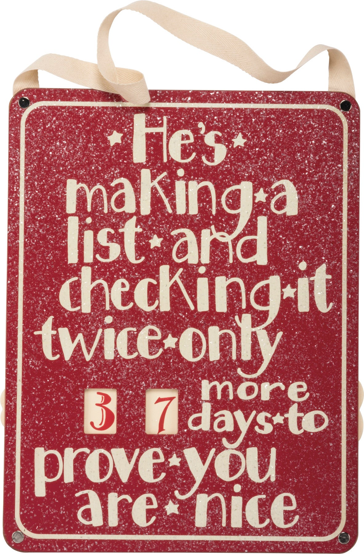 Holiday Countdown Sign