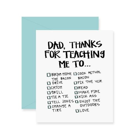 Fresh Out of Ink - Dad Checklist Greeting Card