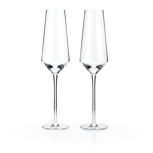 Viski - Raye Crystal Champagne Flutes (Set of 2)by Viski