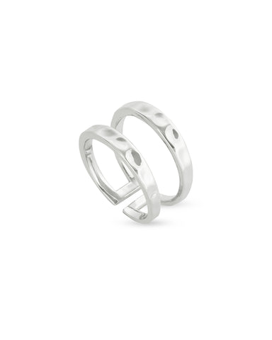 Zorte Double Band Ring in Silver