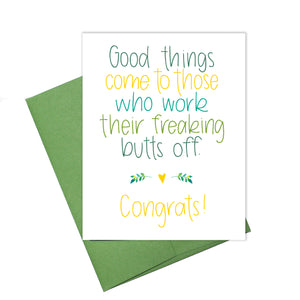 Colette Paperie - Good Things Congrats Card