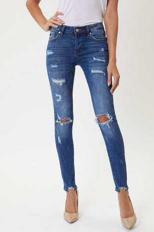 Marley Mid-Rise Distressed Jeans