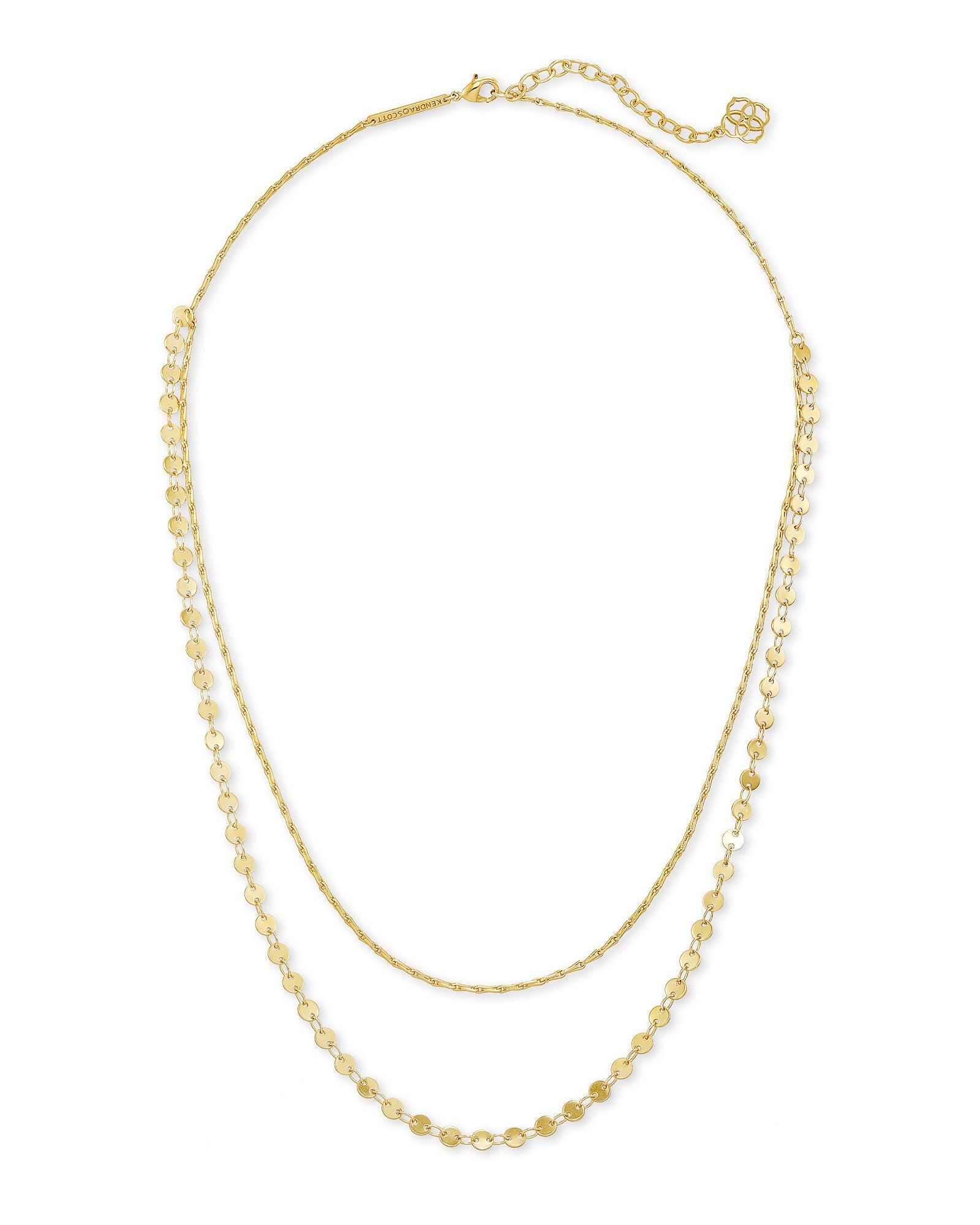 Sydney Multi Strand Necklace in Gold