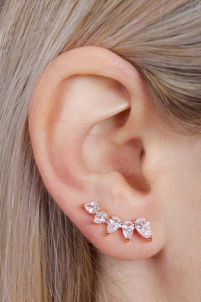 Dew Drop Ear Climbers