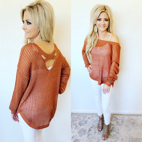 Rylee Rust Sweater