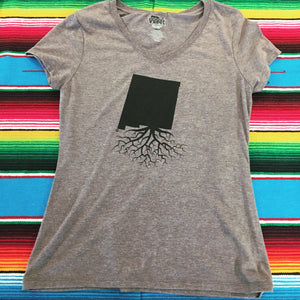 Women's Gray New Mexico Roots Tee
