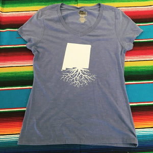 Women's Blue New Mexico Roots Tee