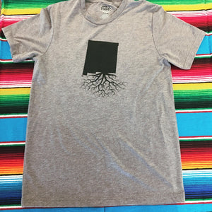Men's Gray New Mexico Roots Tee
