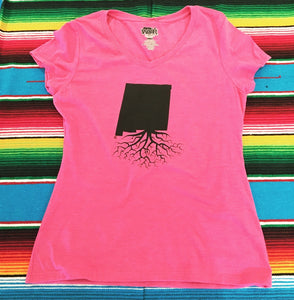 Women's Pink New Mexico Roots Tee