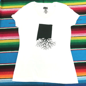 Women's White New Mexico Roots Tee