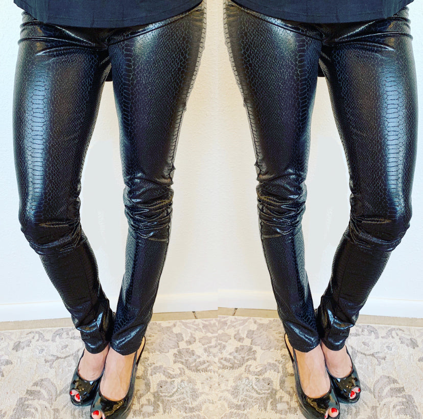 Snakeskin Liquid Leggings
