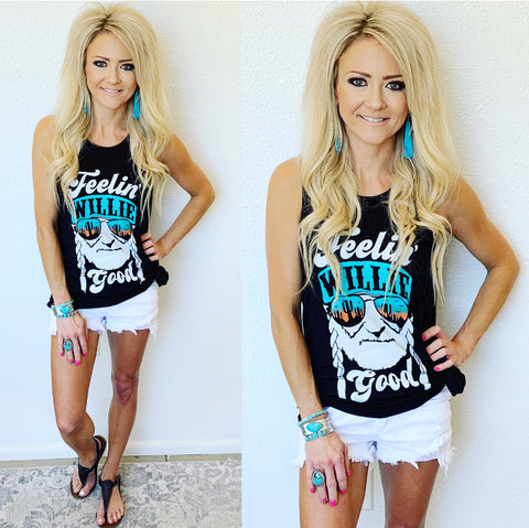 Feelin' Willie Good Tank in Black