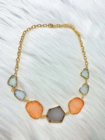 Sunset Geo Necklace