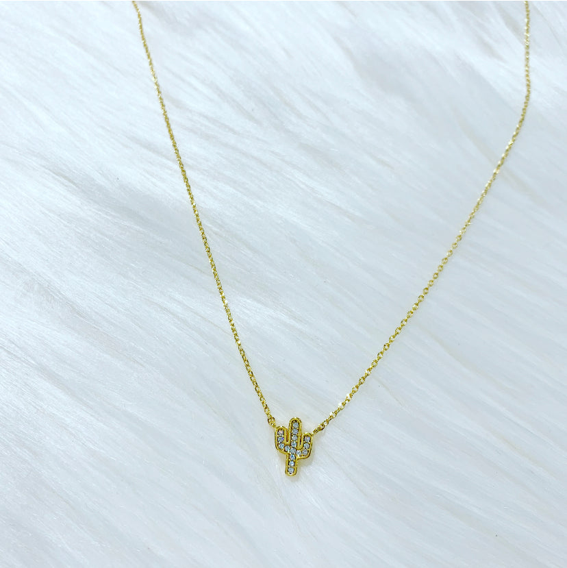 Crystal Cactus Necklace