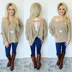 No Back Talk Tan Sweater