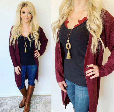 Wine in the Mountains Merlot Cardigan