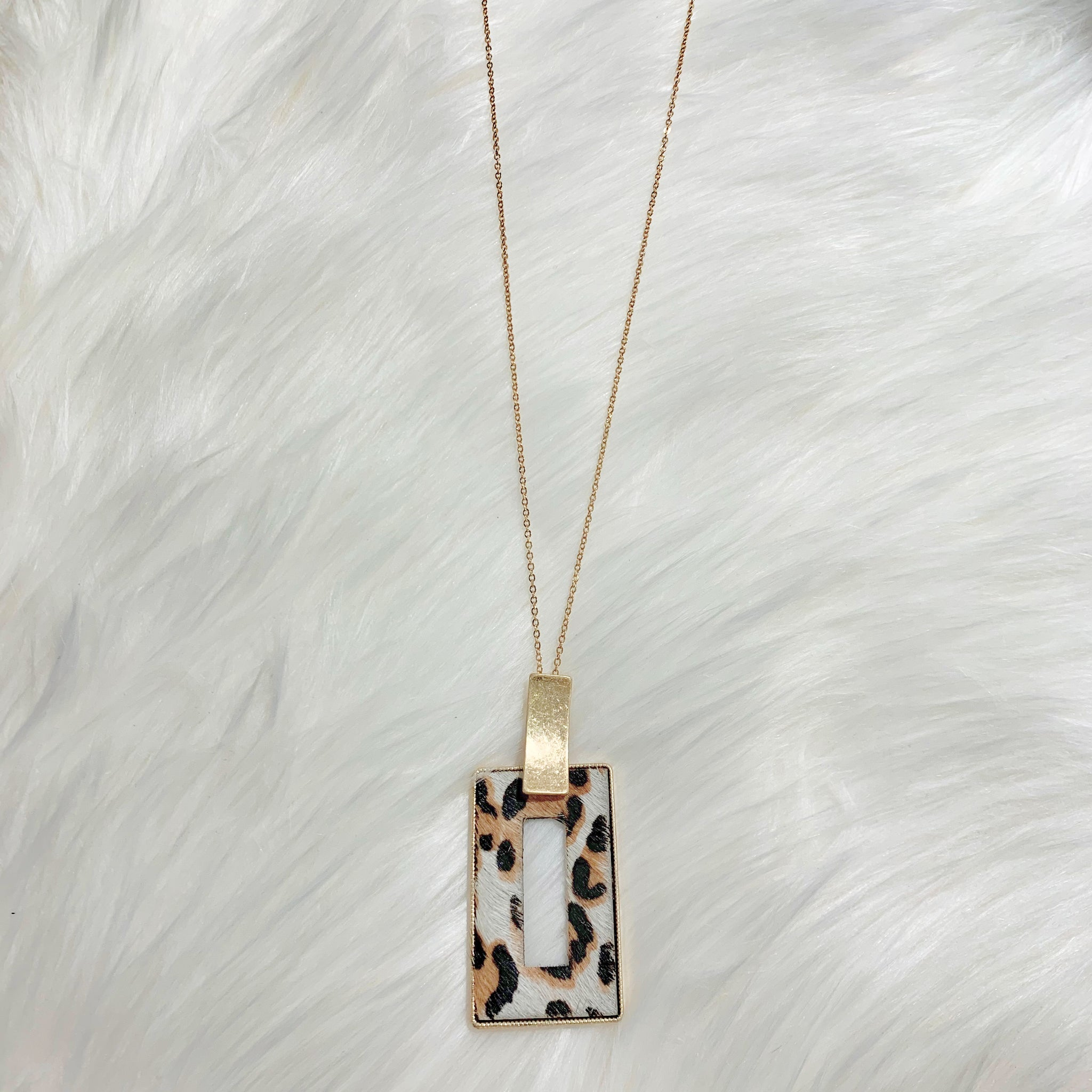 Leopard Drop Necklace