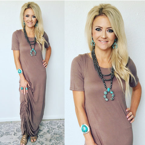 Terrianne Tied Maxi Dress