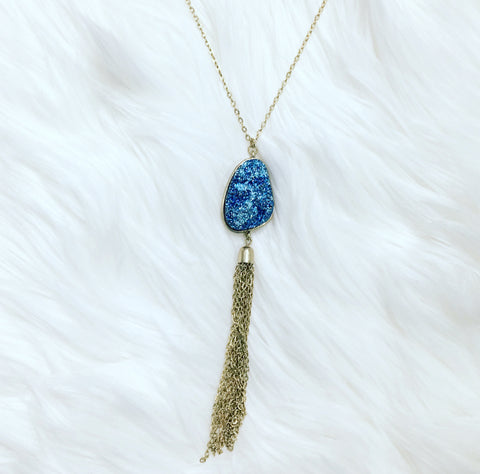 Go Big Blue Druzy Necklace