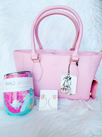 Pretty in Pink Wine Gift Set