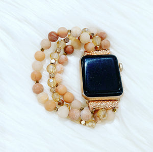 Rose Gold Beaded Apple Watch Band