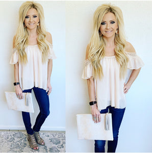 Just Peachy Off Shoulder Blouse
