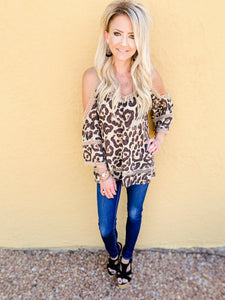 Layla Leopard Cold Shoulder