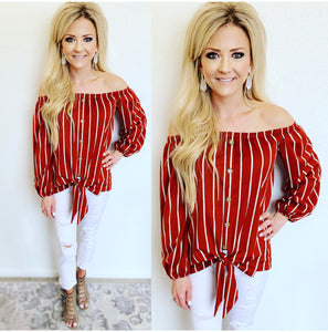 Sunset Striped Blouse