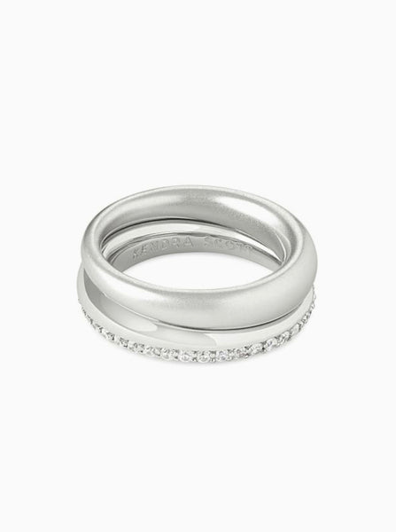 Colette Ring Set of 2 in Silver