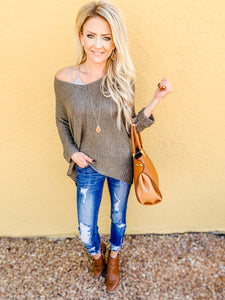 McKinley Knit Sweater in Olive