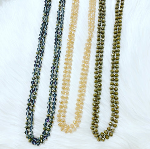 Crystal Clear Beaded Necklace