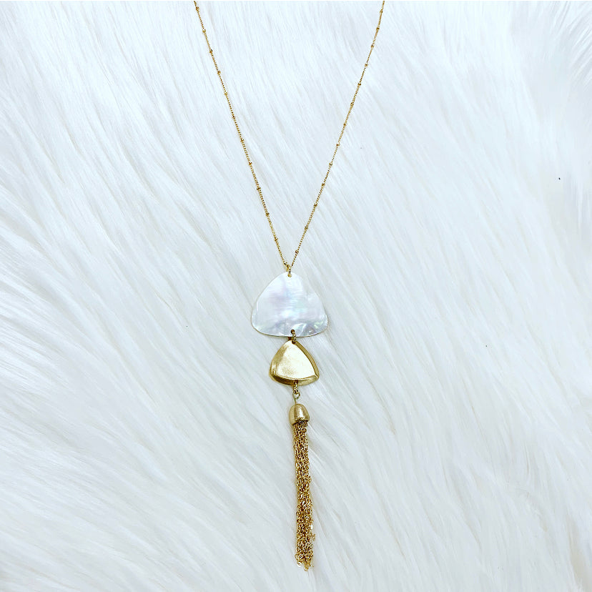 Triangle Tassel Necklace
