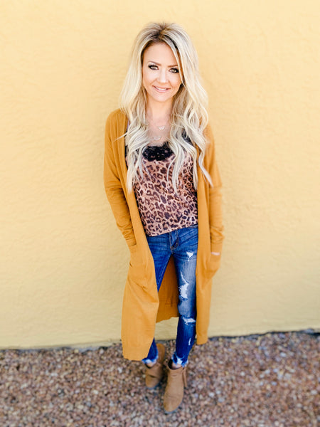 Seasons Change Cardigan in Mustard