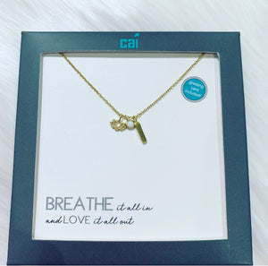 """Breathe"" Charm Necklace"
