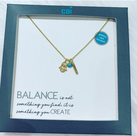 """Balance"" Charm Necklace"