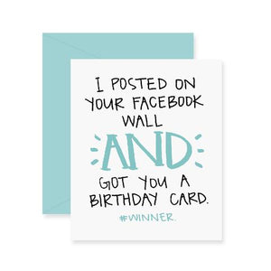 Fresh Out of Ink - Facebook Birthday Greeting Card