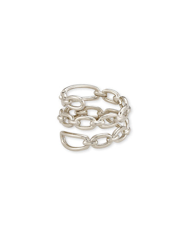 Ryder Wrap Ring in Rhodium